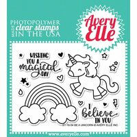 Avery Elle - Clear Photopolymer Stamps - Be A Unicorn