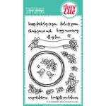 Avery Elle - Clear Acrylic Stamps - Banner and Wreath