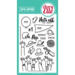 Avery Elle - Clear Acrylic Stamps - Hats Off