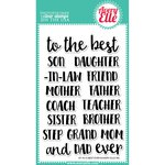 Avery Elle - Clear Acrylic Stamps - Best Ever