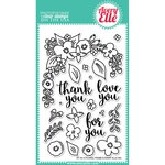Avery Elle - Clear Acrylic Stamps - Floral Frame