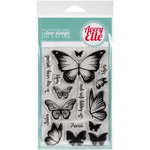 Avery Elle - Clear Acrylic Stamps - Butterflies