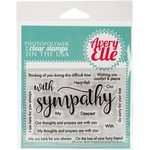 Avery Elle - Clear Acrylic Stamps - With Sympathy