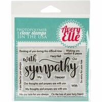 Avery Elle - Clear Photopolymer Stamps - With Sympathy