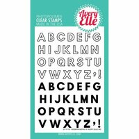 Avery Elle - Clear Acrylic Stamps - Modern Alphabet