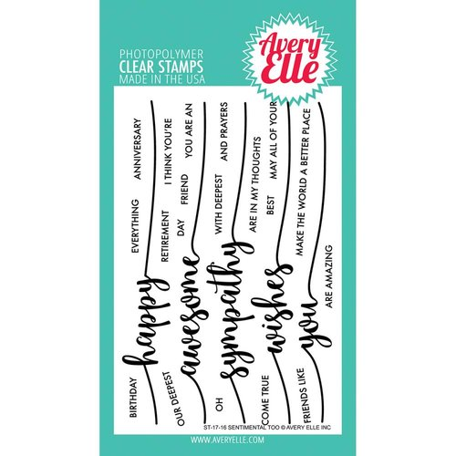Avery Elle - Clear Acrylic Stamps - Sentimental Too