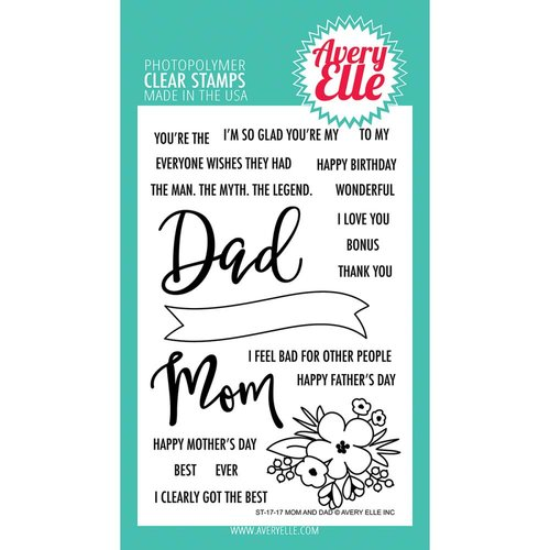 Avery Elle - Clear Photopolymer Stamps - Mom and Dad