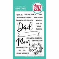 Avery Elle - Clear Acrylic Stamps - Mom and Dad