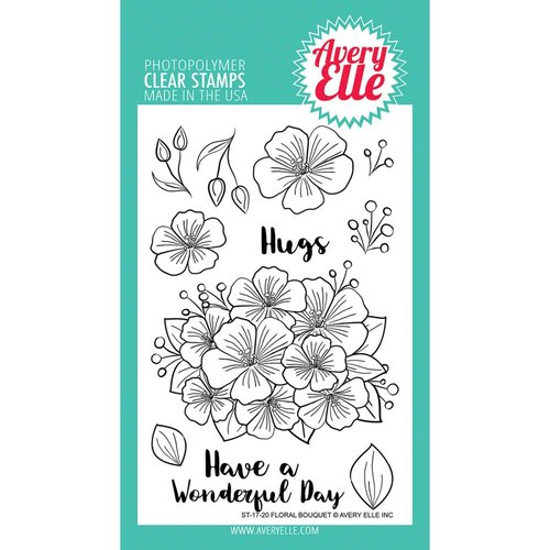 Avery Elle - Clear Acrylic Stamps - Floral Bouquet
