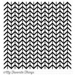 My Favorite Things - Background - Cling Mounted Rubber Stamp - Lined Chevron