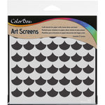 ColorBox - Art Screens - 6 x 6 Stencil - Scallop