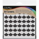 ColorBox - Art Screens - 6 x 6 Stencil - Scallop