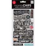Me and My Big Ideas - MAMBI Sticks - Chipboard Stickers - Chalk - Sweet Memories