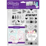 Docrafts - Creativity Essentials - Clear Acrylic Stamps - A5 - Geometric Neon