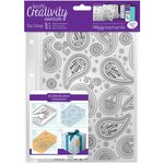 Docrafts - Creativity Essentials - Clear Acrylic Stamps - A5 - Background - Paisley