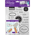 Docrafts - Creativity Essentials - Clear Acrylic Stamps - A5 - Male Family