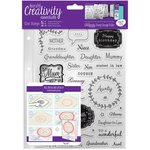 Docrafts - Creativity Essentials - Clear Acrylic Stamps - A5 - Female Family