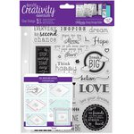 Docrafts - Creativity Essentials - Clear Acrylic Stamps - A5 - Inspirational Sentiments