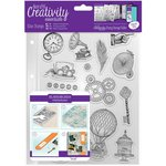 Docrafts - Creativity Essentials - Clear Acrylic Stamps - A5 - Steampunk