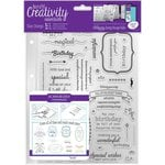 Docrafts - Creativity Essentials - Clear Acrylic Stamps - A5 - Birthday Verses