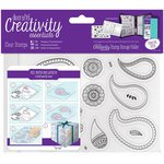 Docrafts - Creativity Essentials - Clear Acrylic Stamps - A6 - Paisley