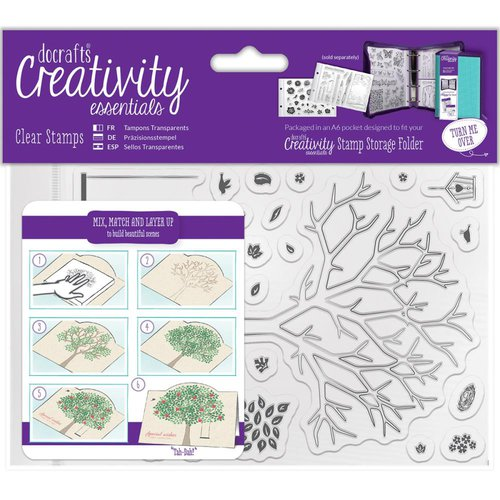 Docrafts - Creativity Essentials - Clear Acrylic Stamps - A6 - Build A Tree