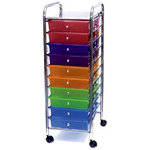 Storage Studios - Home Center Rolling Cart -10 Drawers - Multi