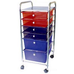 Storage Studios - Home Center Rolling Cart - 6 Drawers - Multi