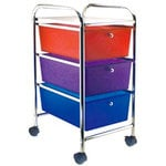 Cropper Hopper - Home Center Rolling Cart - 3 Drawers - Multi