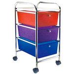 Storage Studios - Home Center Rolling Cart - 3 Drawers - Multi