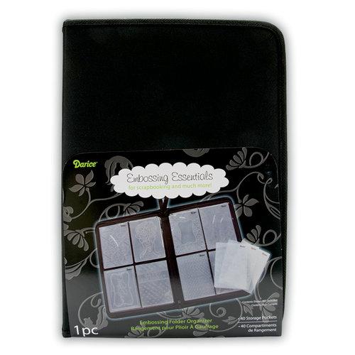 Darice - Embossing Essentials - Embossing Folder Case Organizer - Black