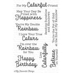 My Favorite Things - Clearly Sentimental - Clear Acrylic Stamps - Rainbow Greetings