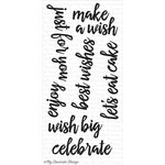 My Favorite Things - Clearly Sentimental - Clear Acrylic Stamps - Brushstroke Birthday Greetings