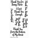 My Favorite Things - Clearly Sentimental - Clear Acrylic Stamps - Thanks So Very Much