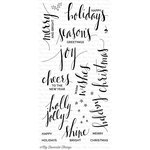 My Favorite Things - Clearly Sentimental - Christmas - Clear Acrylic Stamps - Hand Lettered Holiday