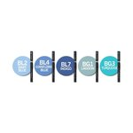 Chameleon Art Products Inc - Chameleon Color Tones - Marker Set - Blue Tones - 5 Pack