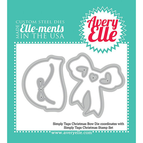 Avery Elle - Elle-Ments Simply Tags Dies - Christmas Bow
