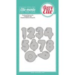 Avery Elle - Ellements Custom Steel Dies - Numbered Balloons
