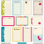 October Afternoon - Cherry Hill Collection - 12 x 12 Die Cut Paper - Journal Cards