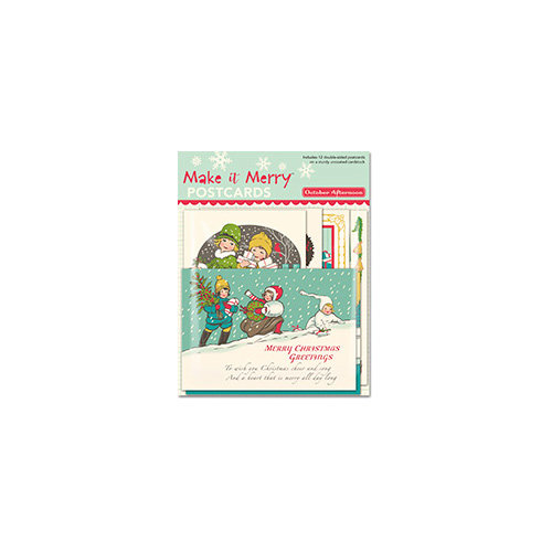 October Afternoon - Make it Merry Collection - Christmas - Postcards
