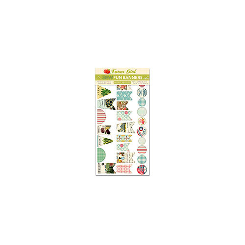 October Afternoon - Farm Girl Collection - Sew Fun Banners - Sewable Cardstock Pieces
