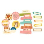 October Afternoon- Saturday Mornings Collection - Die Cut Cardstock Pieces - Tidbits