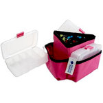 Mackinac Moon - Triangle Storage Spinner - Pink