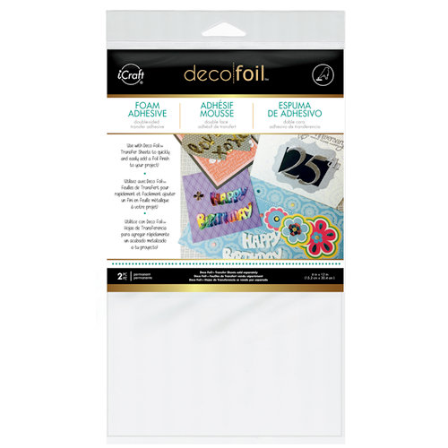 Therm O Web - Deco Foil - 6 x 12 Foam Adhesive - White