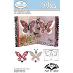 Elizabeth Craft Designs - Karen Burniston - Pop it Ups Metal Dies - Butterfly Pivot Card