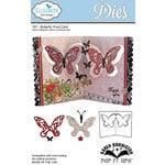 Elizabeth Craft Designs - Karen Burniston - Pop it Ups Metal Dies - Butterfly Pivot Card