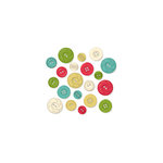 October Afternoon - Make it Merry Collection - Christmas - Buttons