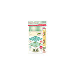 October Afternoon - Make it Merry Collection - Christmas - Little Flyers - Self Adhesive Flags