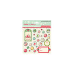 October Afternoon - Make it Merry Collection - Christmas - Designer Brads