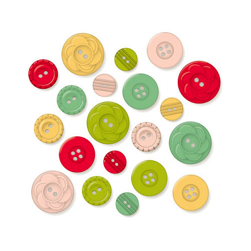 October Afternoon - Cakewalk Collection - Buttons